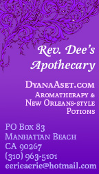 Rev. Dee's business card